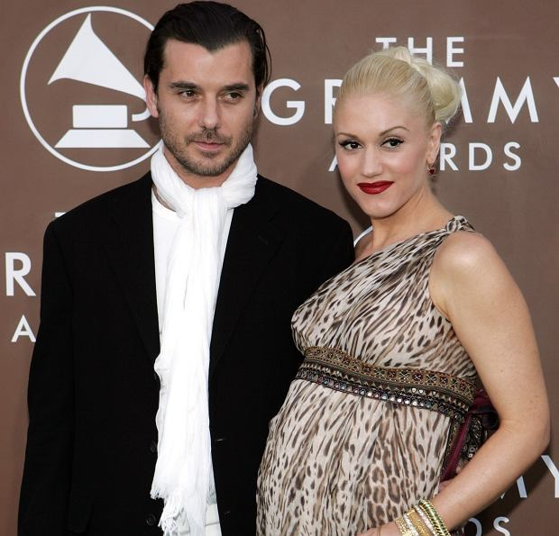 Gwen Stefani and her husband Gavin Rossdale arrive for the 48th Annual Grammy Awards on Wednesday, Feb. 8, 2006, at the Staples Center in Los Angeles. (AP Photo/Chris Carlson)