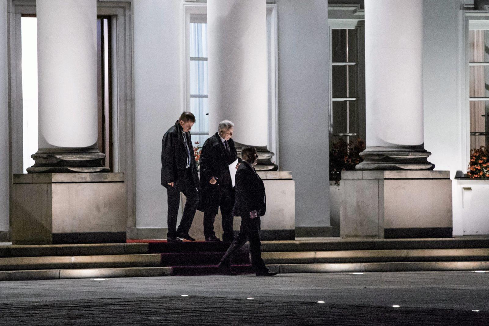 20.10.2017 Warszawa , Belweder . Prezes PiS Jaroslaw Kaczynski po spotkaniu z prezydentem RP Andrzejem Duda .Fot. Adam Stepien / Agencja Gazeta