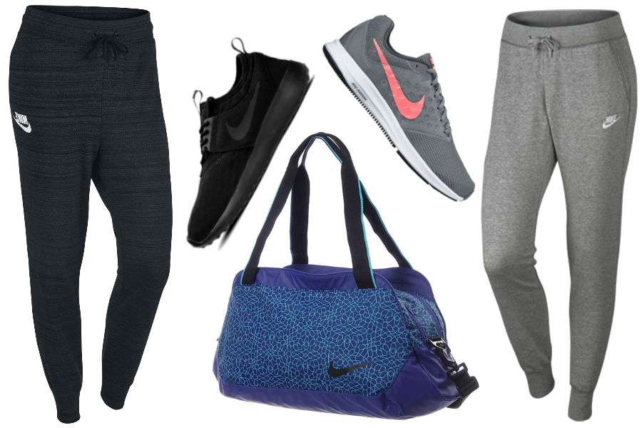 Kolaż / Ubrania, buty i akcesoria sportowe marki Nike / Materiały partnera