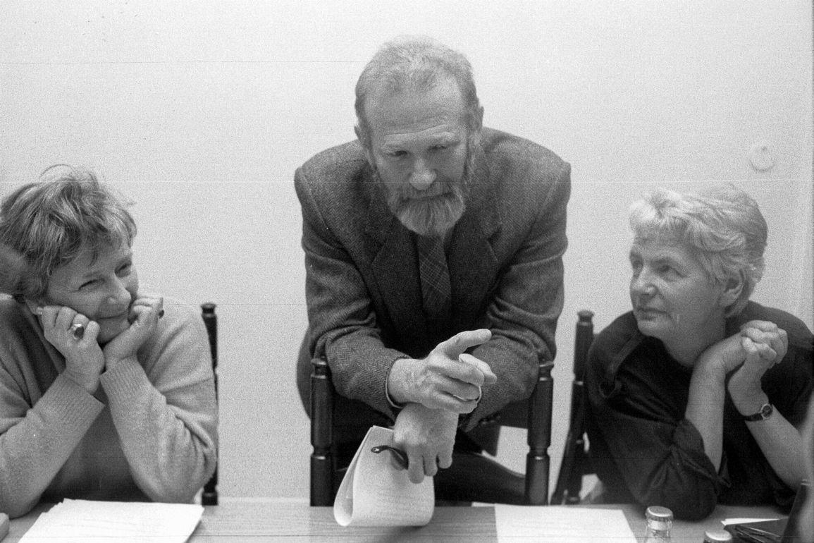 }1989 WARSZAWA SEJM OD LEWEJ OLGA KRZYZANOWSKA BRONISLAW GEREMEK  ZOFIA KURATOWSKAFOT. WALDEMAR GORLEWSKI / AGENCJA GAZETA