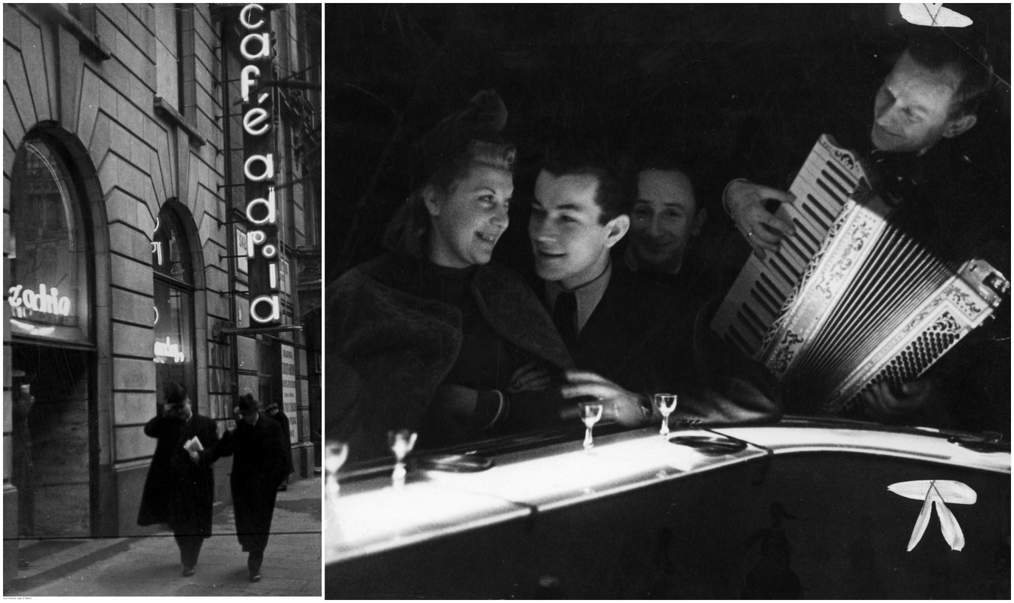 W latach 30. i na początku lat 40. XX wieku najbardziej elegancki lokal stolicy (fot. Narodowe Archiwum Cyfrowe)