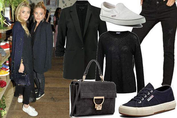 fot. EastNews/ Bliźniaczki Olsen/ modna stylizacja na co dzień