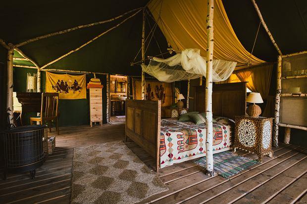 Pokój namiotowy w Glendorii na Mazurach