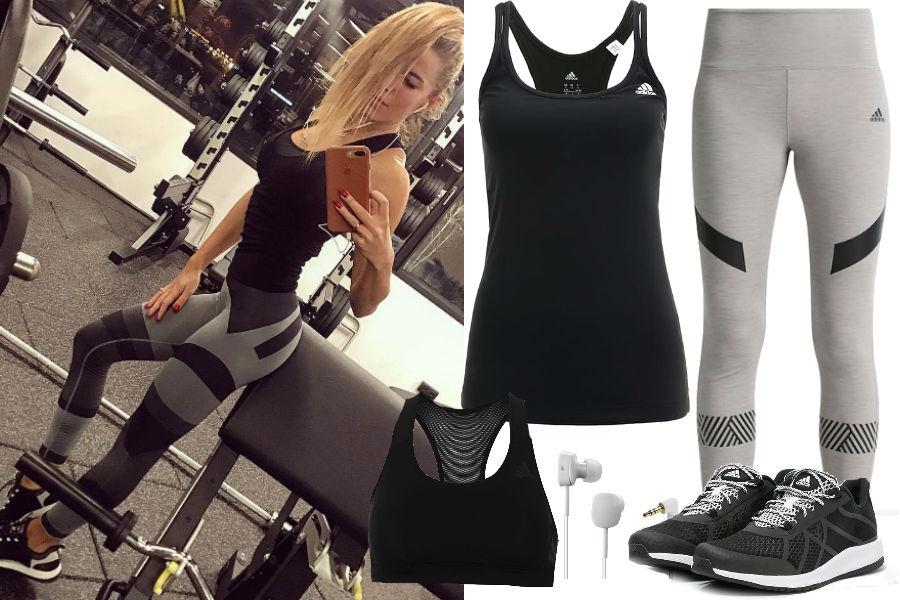 Ewa Chodakowska, strój na fitness, adidas