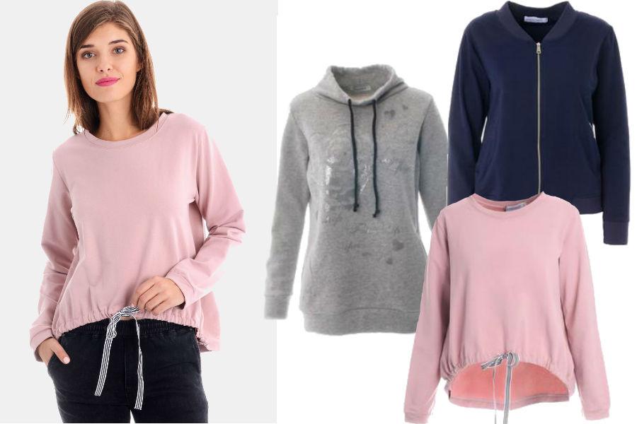 Kolaż / Materiały partnera / Bluzy w niskich cenach