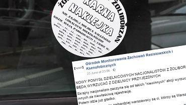 """""""Skrajny nacjonalizm zaczyna się od takich akcji"""". Będą wyrzucać przyjezdnych parkujących na Żoliborzu?"""