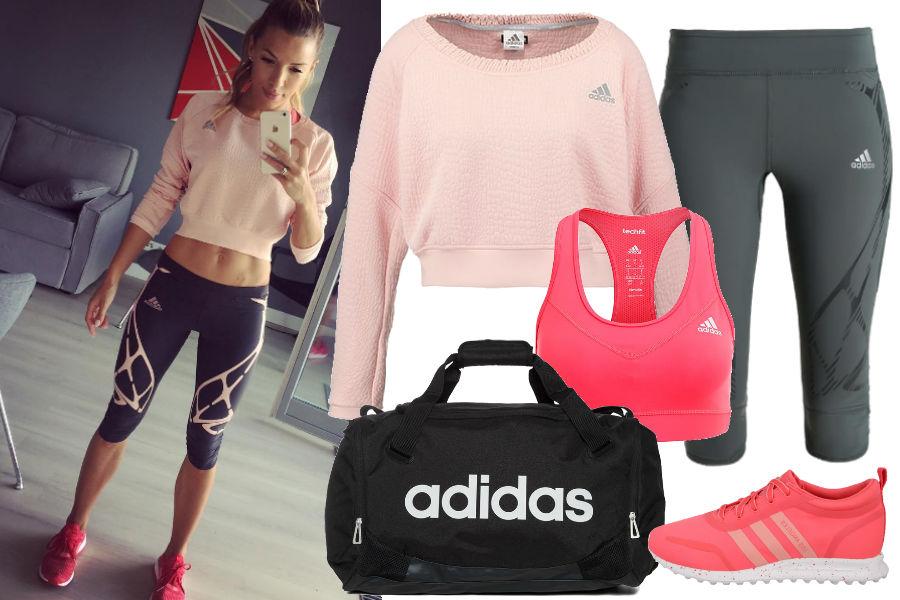 Ewa Chodakowska, sportowa stylizacja, adidas