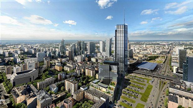 Warszawa, Varso Tower firmy HB Reavis SLOWA KLUCZOWE: wiezowiec wizualizacja ZDJĘCIE DO WKŁADKI: DLOWA Strony Lokalne Warszawa