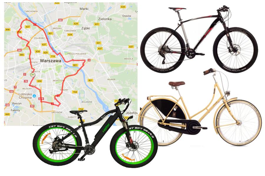Trasa rowerowa po Warszawie (ok 55 km)