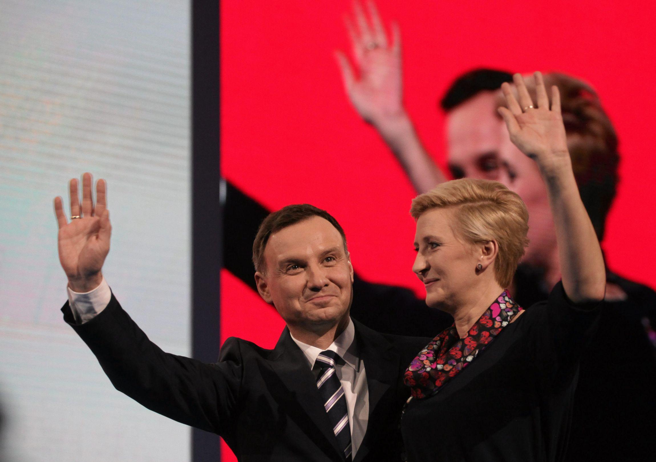 Andrzej Duda z żoną (fot. Sławomir Kamiński)