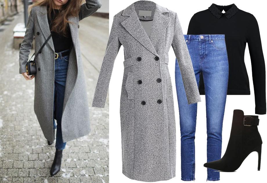 Długi płaszcz - stylizacja
