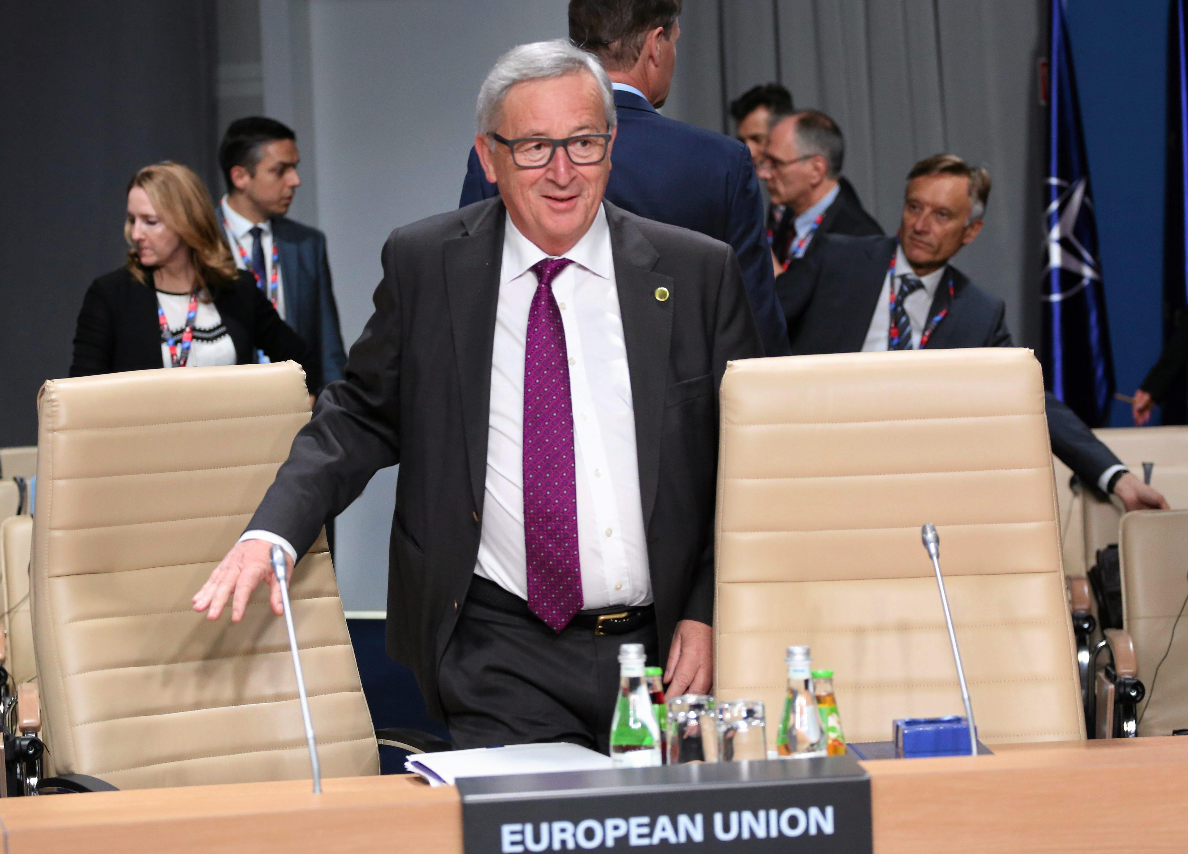 Przewodniczący Komisji Europejskiej Jean-Claude Juncker podczas szczytu NATO w Warszawie. Lipiec 2016 r. (fot . Sławomir Kamiński / Agencja Gazeta)
