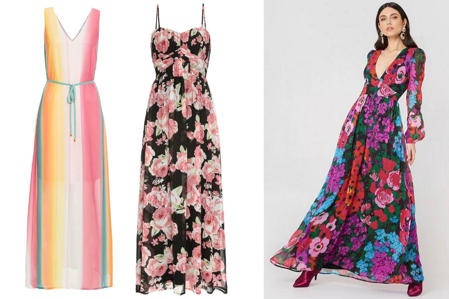 23e067f644 Długie sukienki we wzory  materiały partnera  kolaż Avanti24