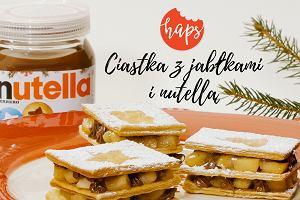 Ciasto francuskie z jabłkami i Nutellą