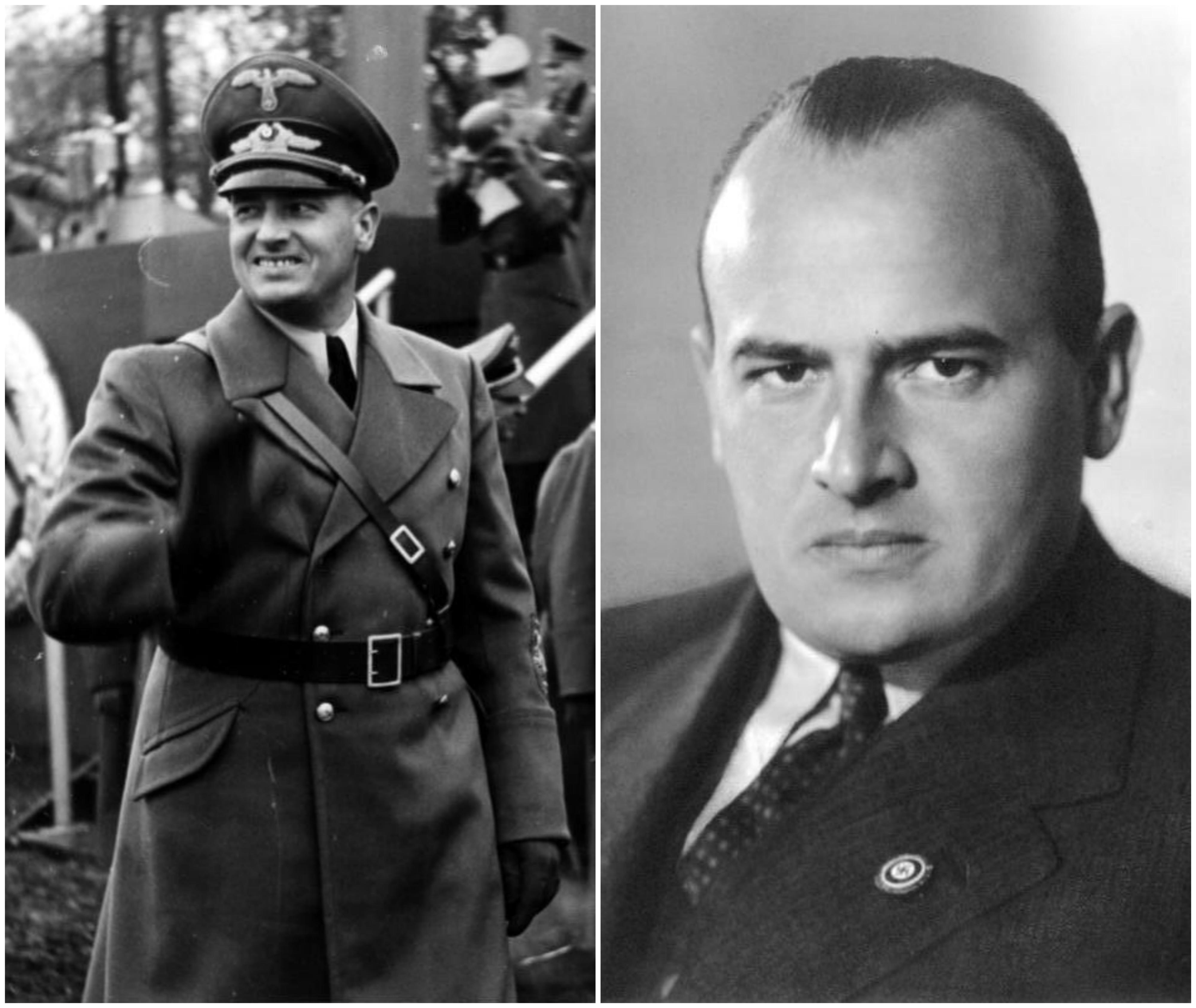 Hans Frank w czasie II wojny światowej był szefem Generalnego Gubernatorstwa utworzonego na terenie okupowanej Polski (fot. Bundesarchiv, Bild 121-0270 / CC-BY-SA 3.0 / Bundesarchiv, Bild 146-1989-011-13 / CC-BY-SA 3.0)