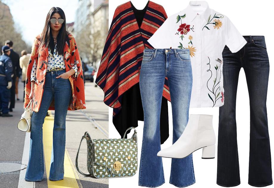 Spodnie dzwony - stylizacja