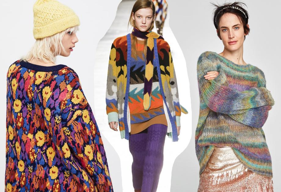 Swetry kolorowe wzory