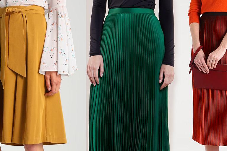 Najładniejsze spódnice w kolorach jesiennych liści