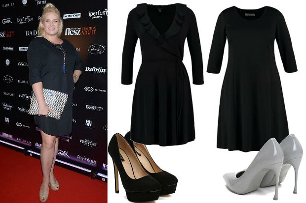 426e22ea63 WBF  Ela Romanowska  czarne sukienki i wysokie szpilki
