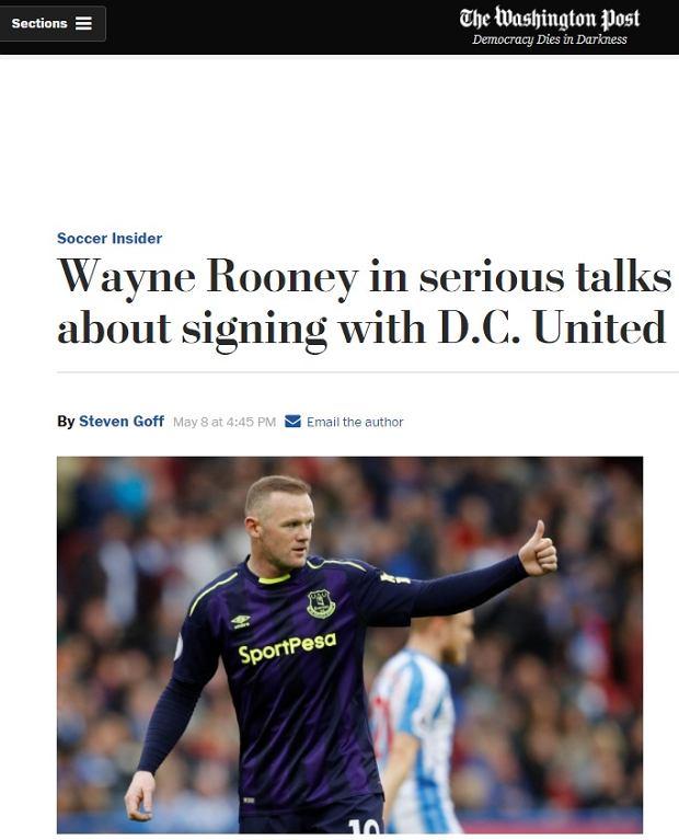 Wayne Rooney zagra w USA?