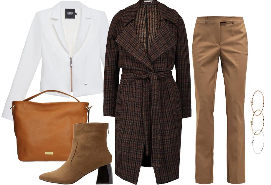 Maffashion - stylizacja - płaszcz w kratę