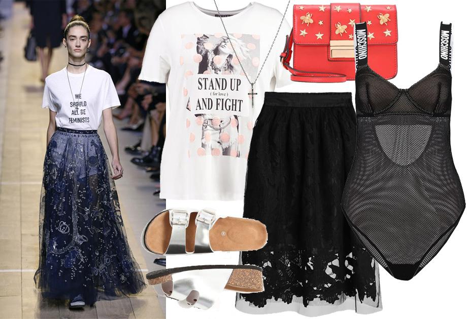 Dior - stylizacja spódnica tiulowa