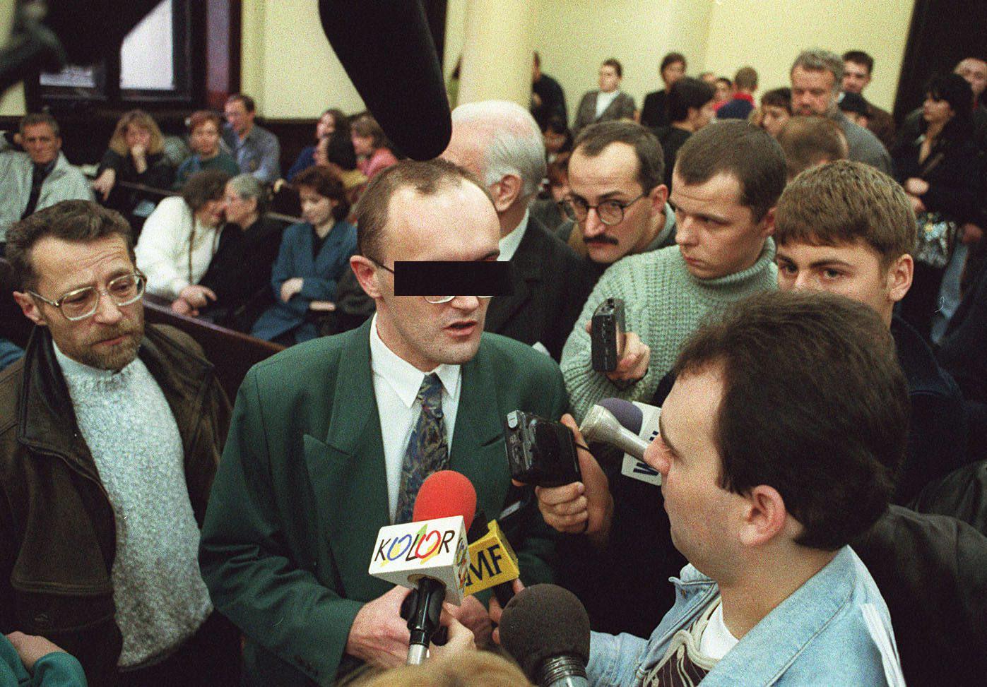 Krzysztof O. podczas procesu maturzystów (fot. Arkadiusz Ścichocki / Agencja Gazeta)