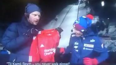 Stoch dostał prezent od norweskiej telewizji. Polak totalnie zaskoczony