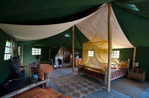 Pokoje namiotowe w Glendorii na Mazurach