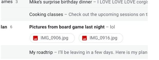 Nowe ikonki załączników w Gmailu