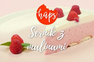 Warstwowy sernik jogurtowy z malinami - piękny i pyszny