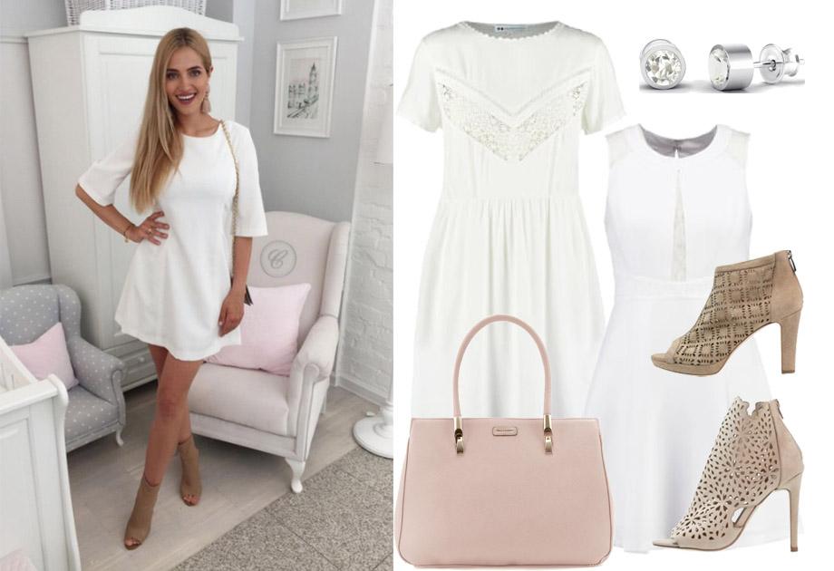 Rozalia Mancewicz w białej sukience