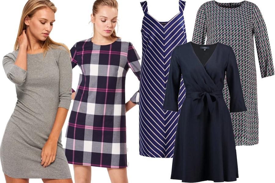 Kolaż, sukienki na co dzień/Materiały partnera/fot. WBF