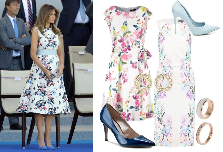 Melania Trump w kwiecistej sukience