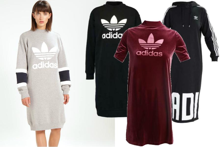 Sukienki Adidas / kolaż redakcja. materiały partnerów