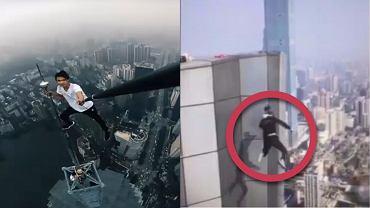 Zasłynął zdjęciami z wieżowców świata. W końcu spadł z 62. piętra