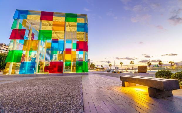 Centre Pompidou w Maladze, charakterystyczna instalacja El Cubo