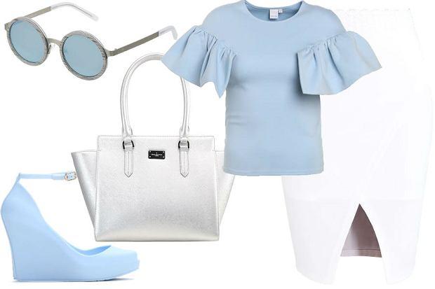 Kolaż Avanti24 / materiały partnera / stylizacja baby blue