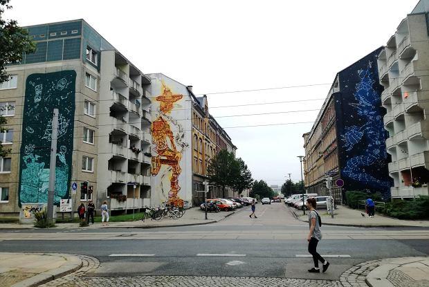 Murale Jensa Bessera, czyli drezdeński street art na wysokim poziomie