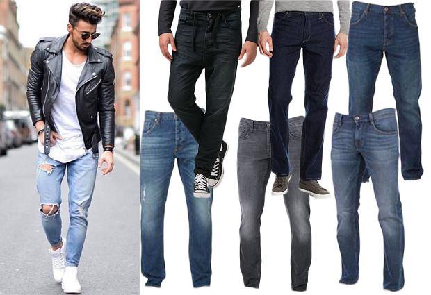 Męskie jeansy kultowych marek