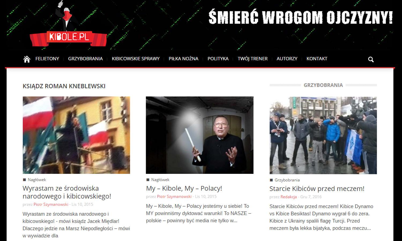 Wypowiedzi kontrowersyjnego duchownego bardzo często udostępniają m.in. kanały 'Polonia Christiana', 'Templum Christi' i 'Kibole.pl' (fot. screenshot / Kibole.pl)