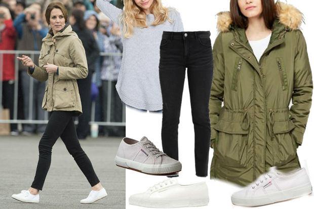 fot. EastNews/ Księżna Kate/ modne obuwie marki Superga