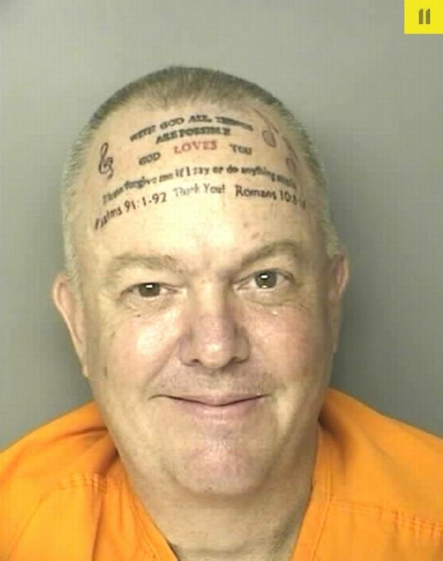 Policyjna Fotka Dnia Naprawdę Zaskakujący Tatuaż Na Czole