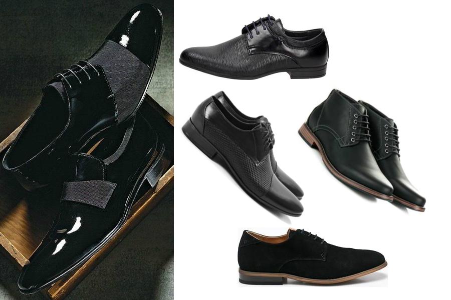 Czarne eleganckie buty / kolaż redakcja, materiały partnerów