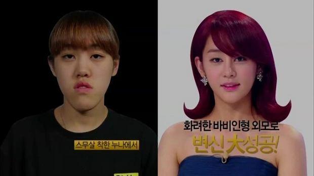 Metamorfozy z koreańskiego programu 'Let me in'