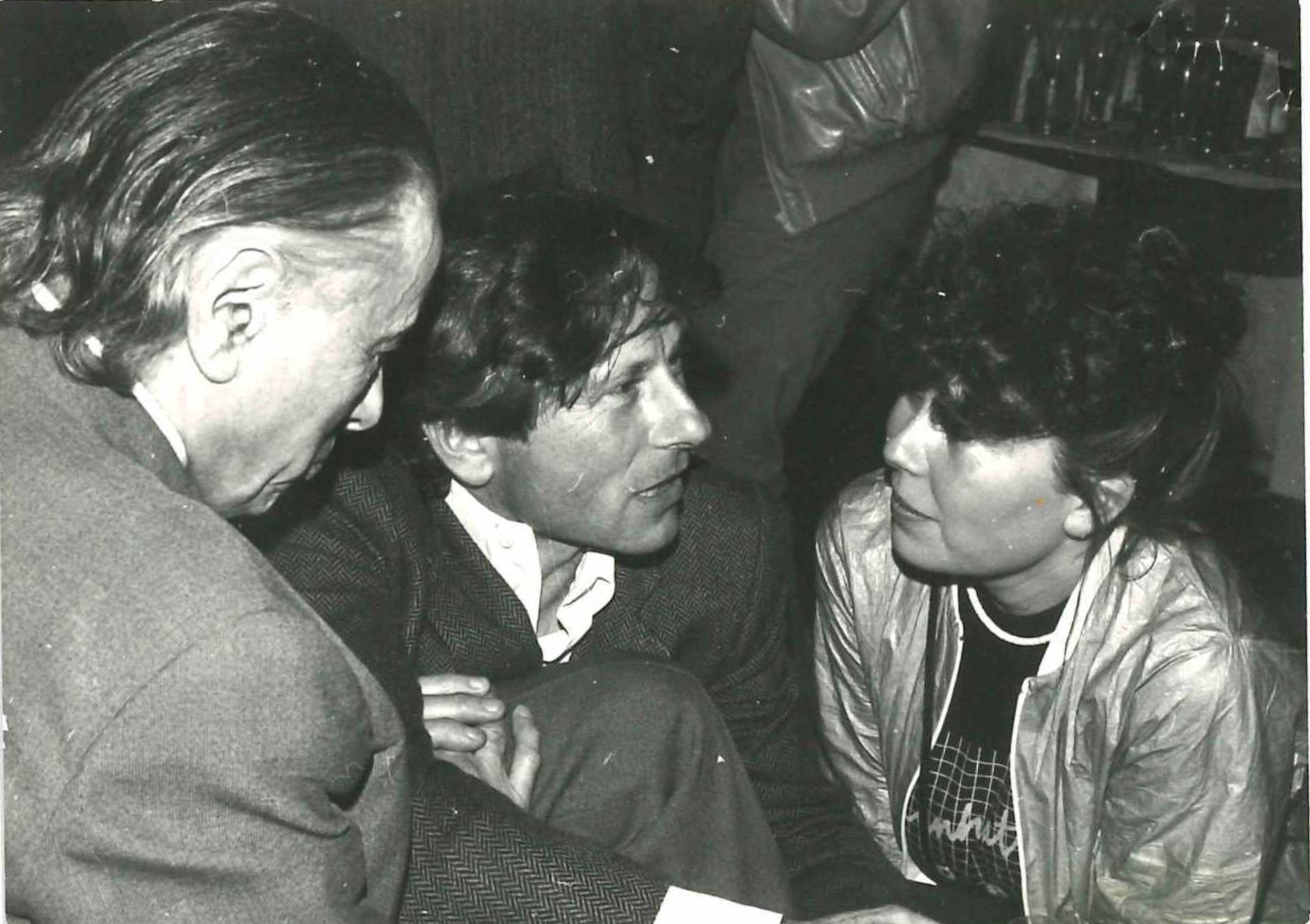 Z Romanem Polańskim, rok 1980 lub 1981 (fot. archiwum prywatne)