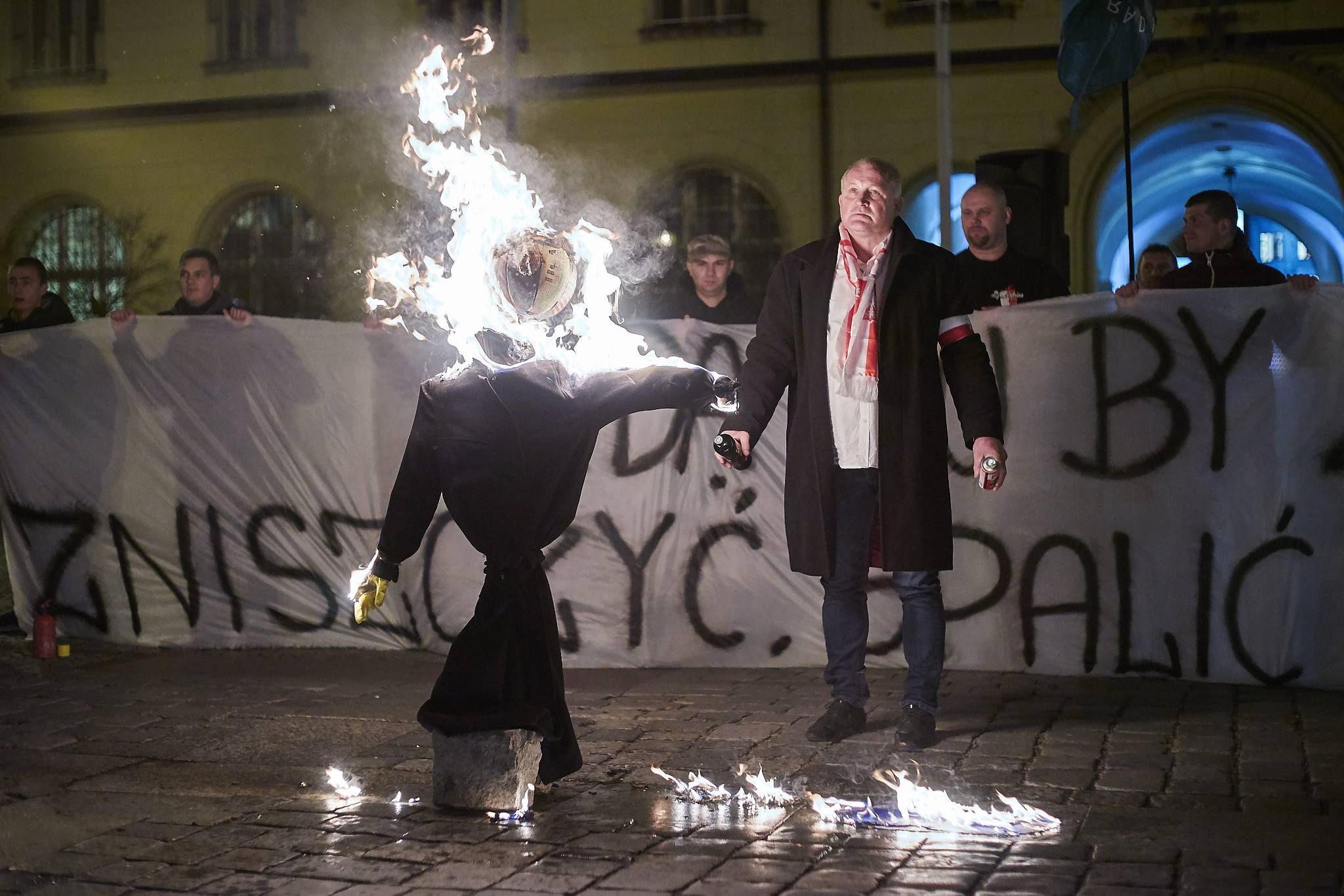 18.11.2015 Wroclaw . Byly wspolpracownik Kukiza , wspolorganizator