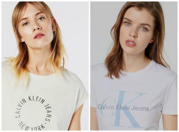 T-shirty Calvin Klein z wyprzedaży