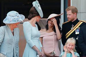 Meghan Markle stała za księżną Kate na urodzinach królowej. Nie bez powodu zajęła miejsce z tyłu