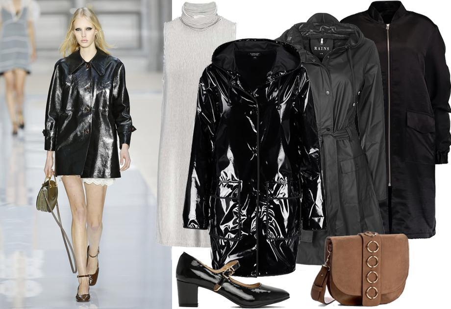 Lakierowany płaszcz w stylu Chloe